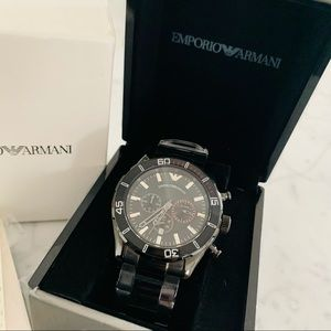 Emporio Armani Sportivo AR5931 Steel Chrono Watch